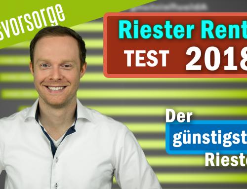 Riester Rente TEST 2018 – Günstigster Riester Deutschlands