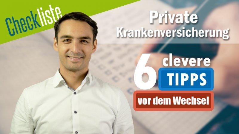 PKV Checkliste mit 6 Tipps