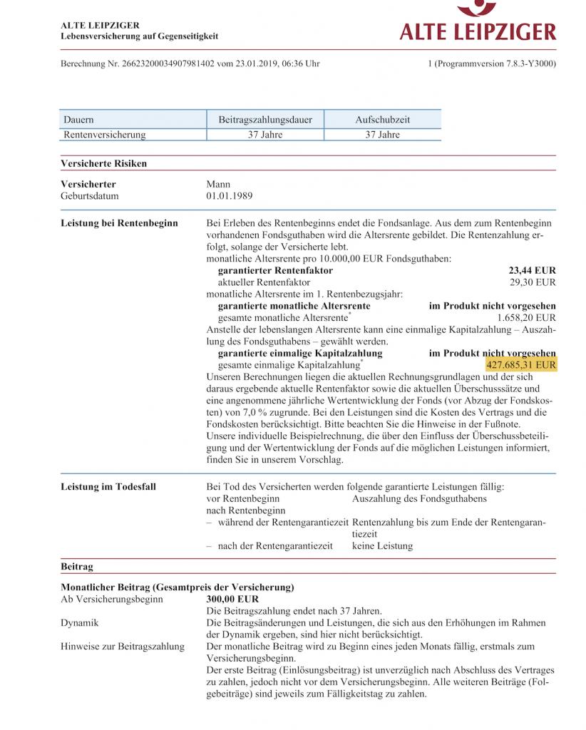 Honorarberatung: Private Rentenversicherung mit Provision