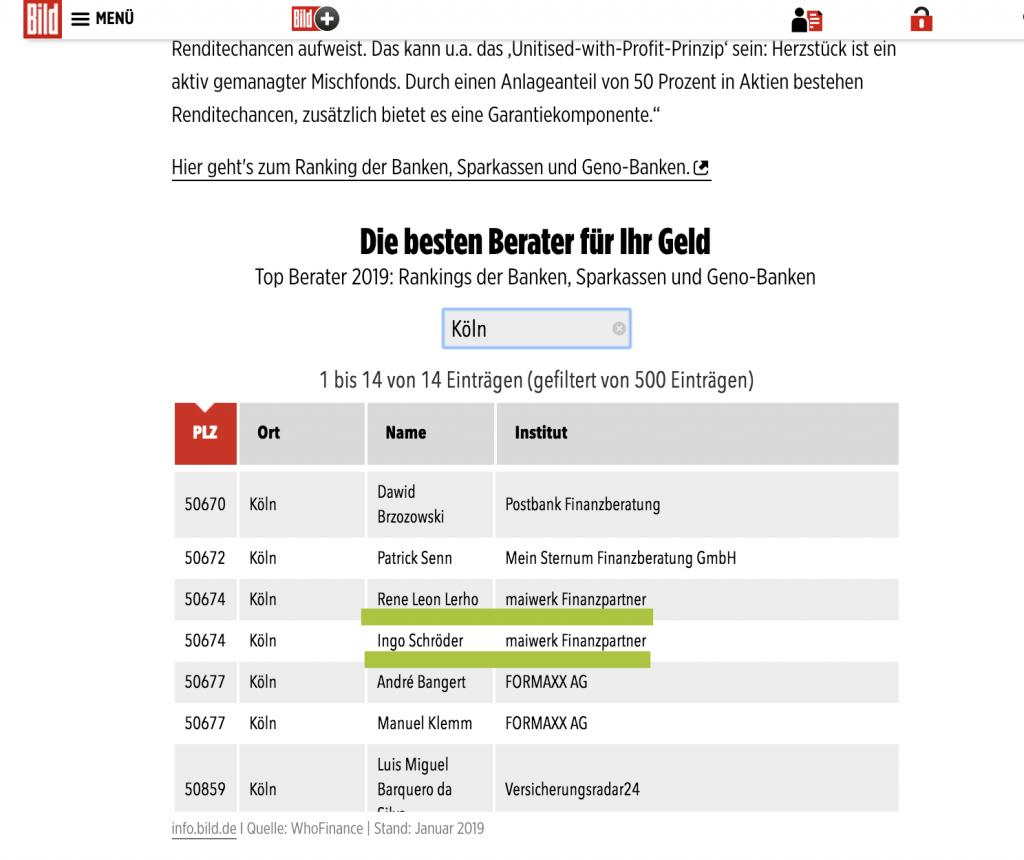 Beste Berater Deutschlands