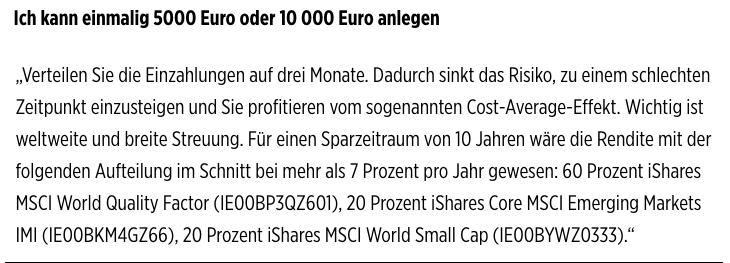 Deutschlands beste Geldanlageberater - Tipp Teil 2